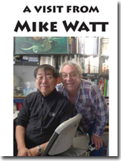 front cover of 'a visit from mike watt' zine by v. vale