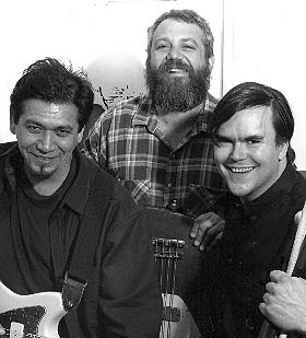 shot of mike watt and the black gang in 1998