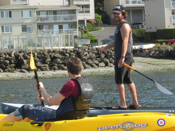andrea belfi + ed vedder paddling in pugent sound on september 21, 2014