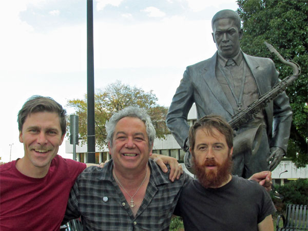 andrea belfi + mike watt + stefano pilia + statue of john coltrane in high point, nc on october 20, 2014