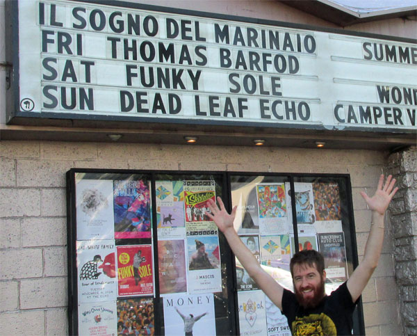 stefano pilia in front of the echo in echo park, ca on september 11, 2014