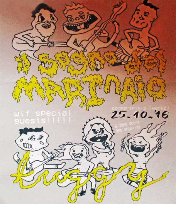poster for il sogno del marinaio + tuggy gig at cammerspiele in leipzig, germany on october 25, 2016