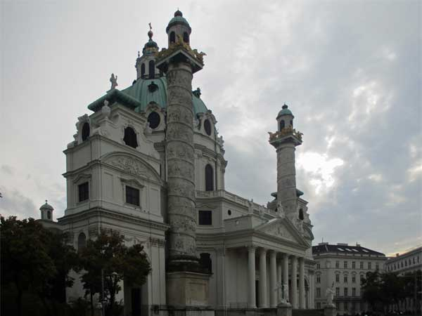 karlskirche in vienna, austria on october 21, 2016