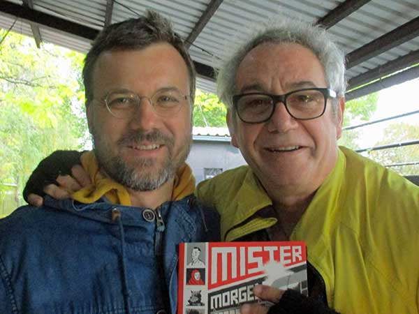 kornel seper + mike watt (l to r) at mocvara in zagreb, croatia on october 20, 2016