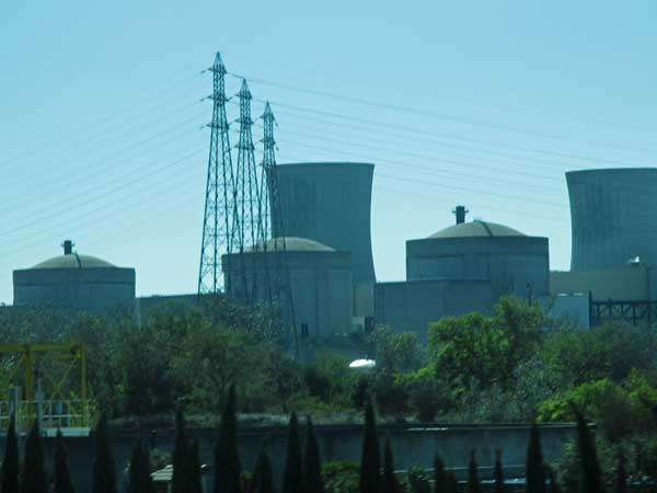 nuke power plant seen on the way to toulon, france on october 9, 2016
