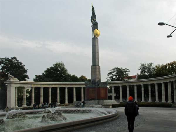 the red army memorial in vienna, austria on october 21, 2016