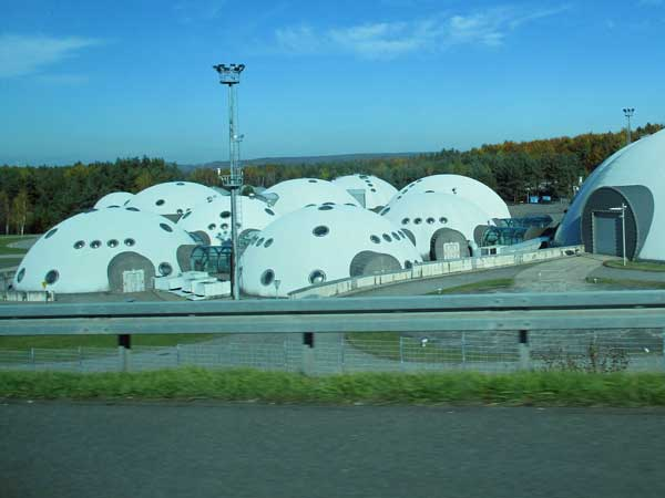 trippy structures on the way out of krakow, poland on october 23, 2016