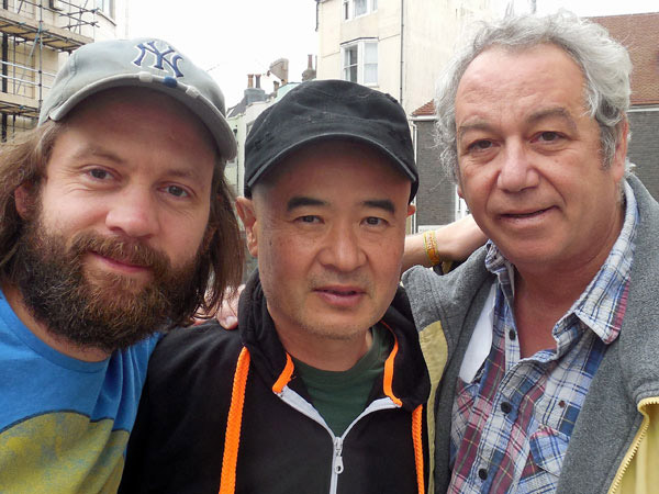 sam dook, eda kazuhisa + mike watt (l to r) in brighton, england on september 13, 2015