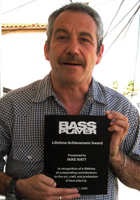 watt w/his bass player magazine lifetime achievement award