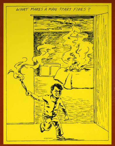 raymond pettibon art for cover of the minutemen's