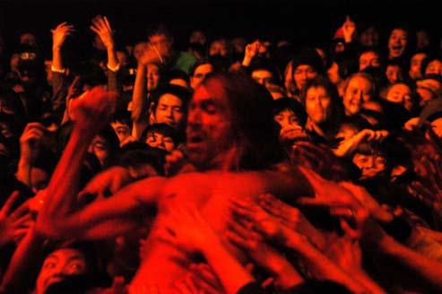 iggy in the crowd in tokyo - 2004