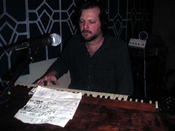 pete doing an overdub