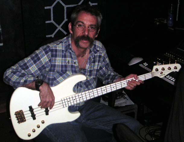 watt w/moon bass in the studio