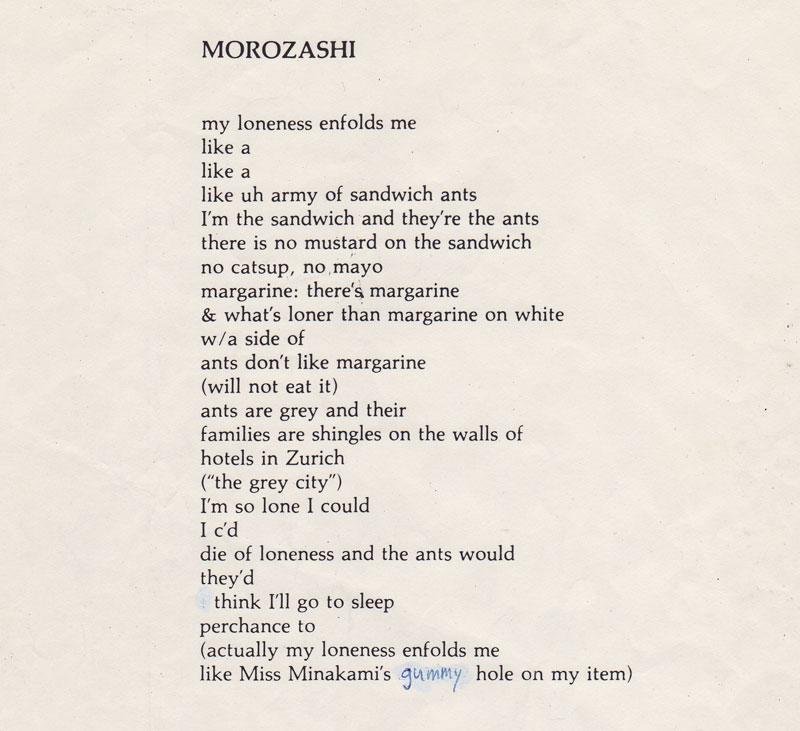 Lyric lyrics for : meltzer lyrics for planned minutemen collaboration