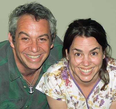 mike watt + petra haden (l to r) on march 3, 2007
