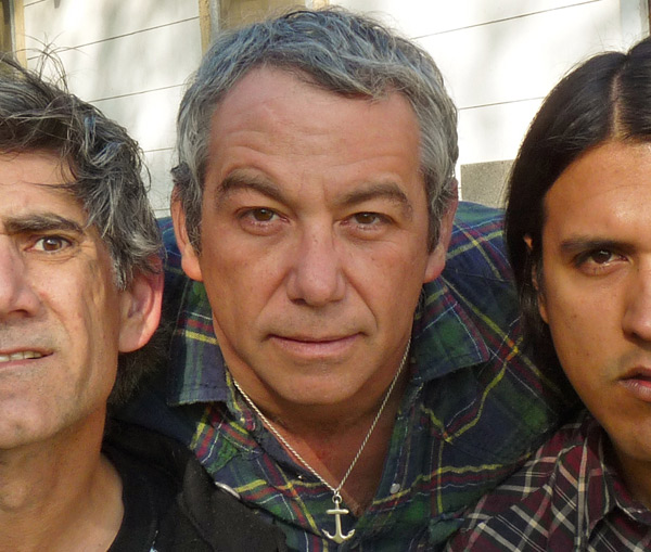 mike watt + the missingmen in front of watt's prac pad in san pedro, ca on march 16, 2009 by mike watt using auto-timer