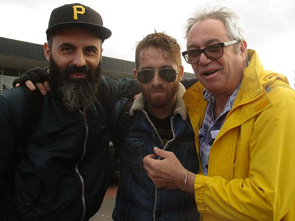 il sogno del marinaio (l to r: paolo mongardi, stefano pilia + mike watt) at schipol on october 23, 2017