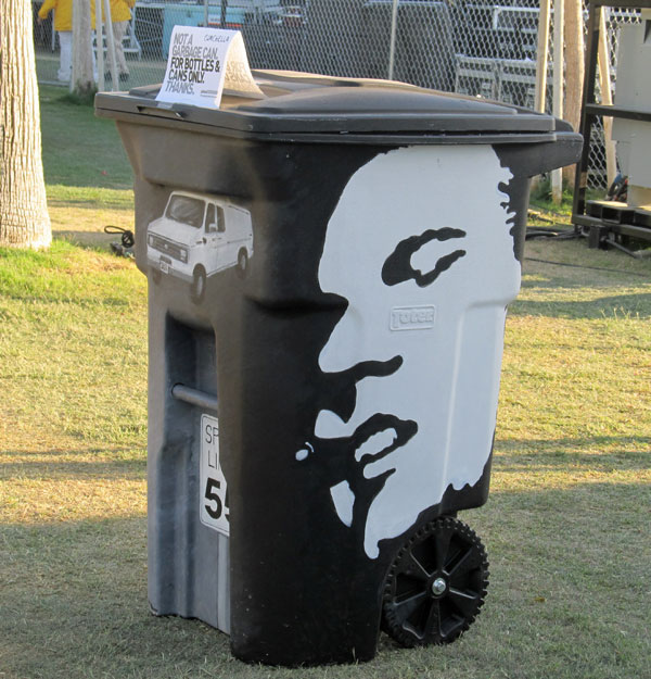 recycling bin at coachella 2012