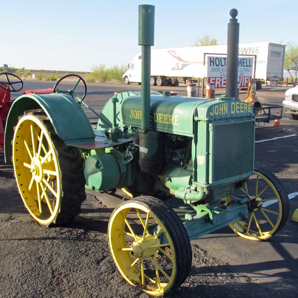 an old john deere tractor in gila bend, az
