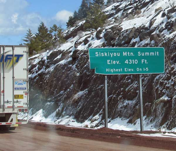 siskiyou pass on april 6, 2012