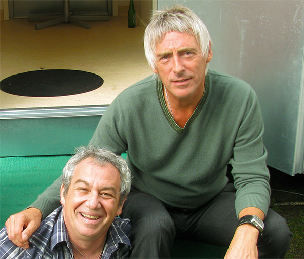 mike watt + paul weller (l to r) in goteborg, sweden on aug 13, 2010