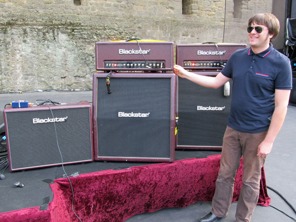 derek see for blackstar amps in carcassonne, france on july 27, 2011