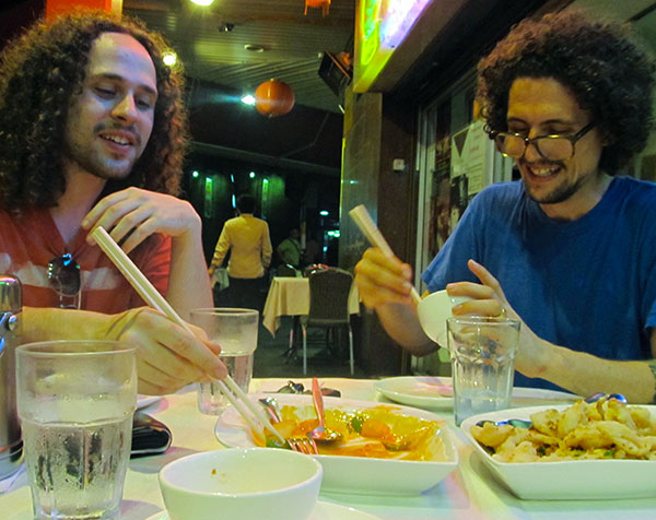 jacob + timothy-ben nicastri in sydney's chinatown on january 25, 2011