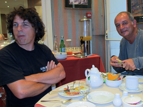 olivier moret and alain lahana (left to right) in toulouse on july 26, 2011