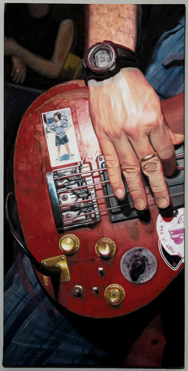 'on bass, watt' painted by mark rutledge