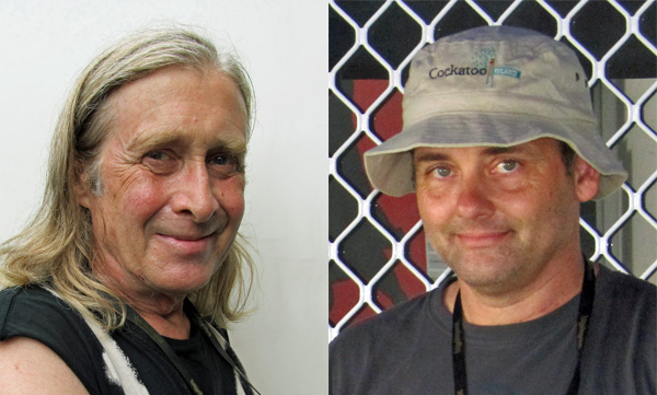 steve mackay (left) + eric fischer (right) in adelaide on january 4, 2011