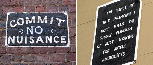 seen in two different alleys in melbourne