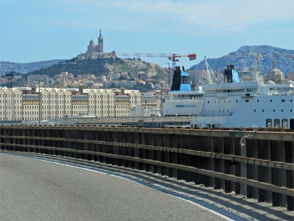 driving into marseille
