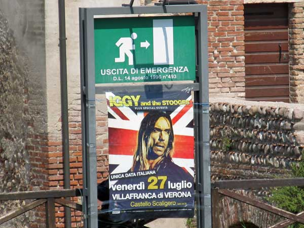 stooges gig poster in villafranca di verona, italy on july 27, 2012