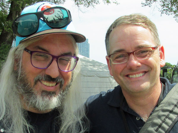 j mascis + eric fischer (l to r) in toronto, canada on august 25, 2013