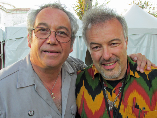 mike watt + jello biafra (l to r) in san jose, ca on september 28, 2013 - photo by james williamson
