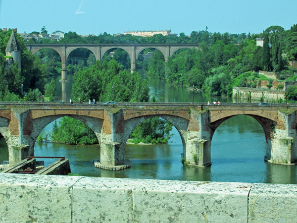 over the tarn and into albi, france - july 8, 2013