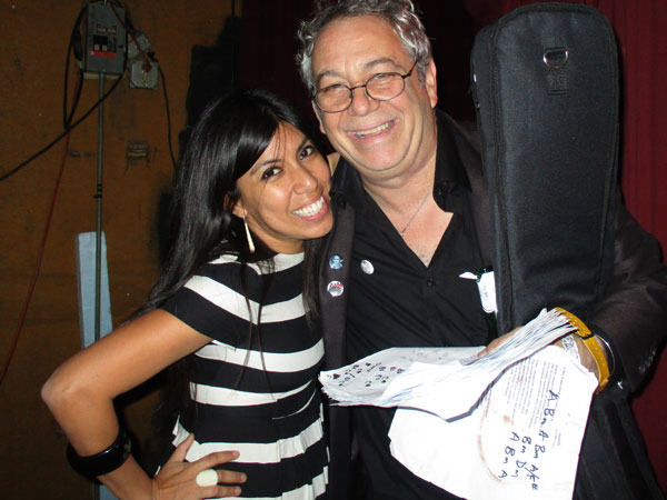 dj suzy q + mike watt (l to r) at 'one eyed jacks' in new orleans, la on october 17, 2015