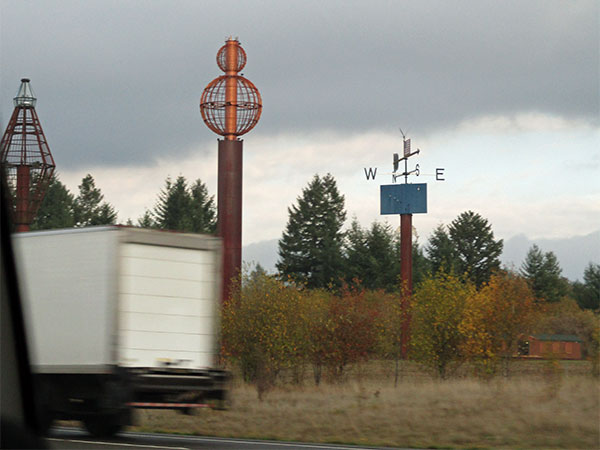 roadside art on the I-5 south in washington state on october 28, 2015