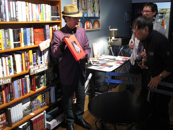 tav falco at the 'octopus literary salon' in oakland, ca on november 2, 2015