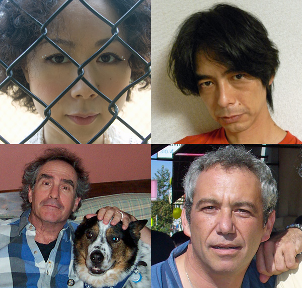 spielgusher (clockwise from lower left) richard meltzer, yuko araki, hirotaka 'shimmy' shimizu + mike watt