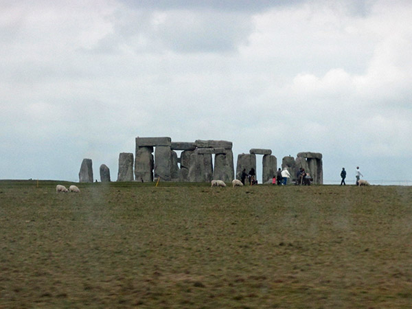 stonehenge from the highway in wiltshire, england on april 10, 2014