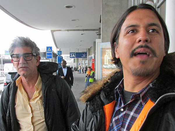 tom watson + raul morales (l to r) at de gaulle airport on feb 19, 2014
