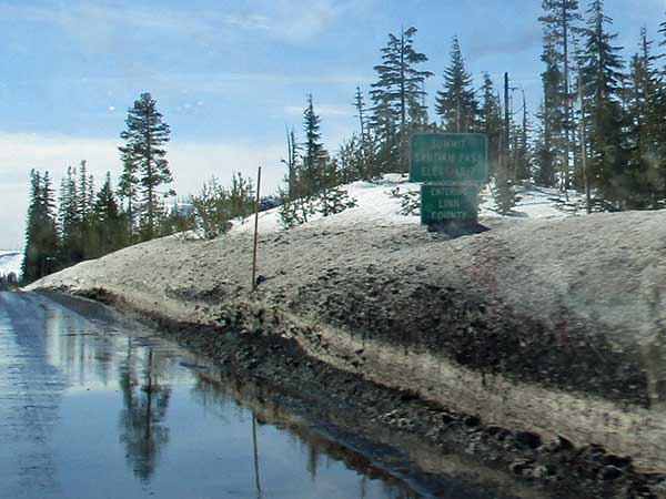 crossing santiam pass on our way to eugene, or on march 2, 2017