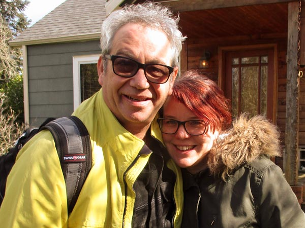 mike watt and tobi vail in front of her pad in olympia, wa on february 28, 2017. photo by raul morales