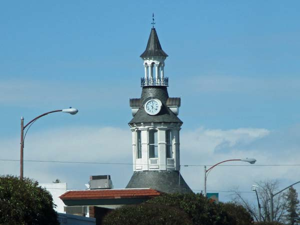 rebuilt cone & kimball clocktower in downtown red bluff, ca on february 24, 2017