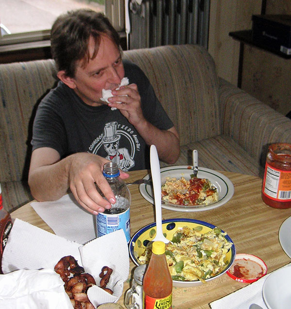 uncle ray chowing in cleveland on october 9, 2004