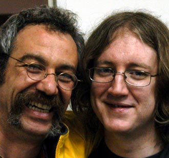shot of watt and kevin shields in 2004