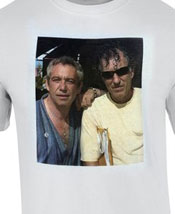 'two cats from the old days' white tshirt w/raymond pettibon and mike watt