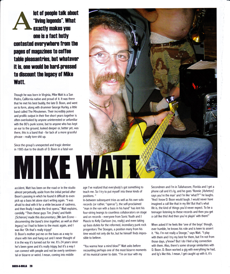 first page of watt rock-a-rolla feb/mar 2010 interview